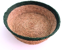 Round Bread Basket - Smoke Granite trim