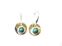 Silver Earrings Turquoise Stone 001
