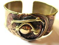 African Copper & Brass Bangle #010