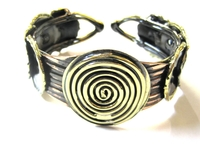 African Copper & Brass Bangle #006