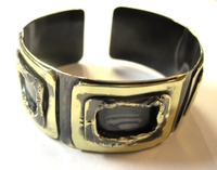 African Copper & Brass Bangle #009