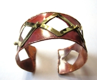 African Copper & Brass Bangle #005