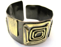 African Copper & Brass Bangle #012
