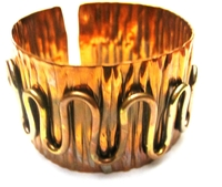 African Copper & Brass Bangle #015