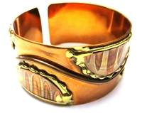 African Copper & Brass Bangle #013