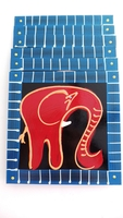Placemats - Set of 6 - Elephant Reds