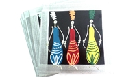 Placemats - Set of 6 - African Ladies Multi color Silver