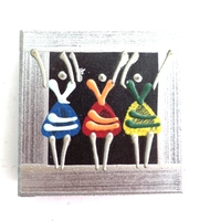 Placemats - Set of 6 - African Ladies Dancing Multi color Silver