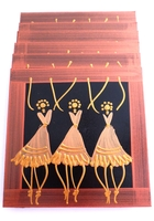 Placemats - Set of 6 - African Ladies Dancing Bronze