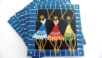 Placemats - Set of 6 - African Ladies Dancing Multi Color Blues