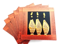 Coasters - Set of 6 - African Ladies Brown and Bronze