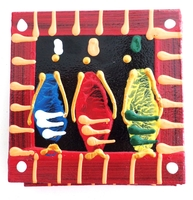 Coasters - Set of 6 - African Ladies Multicolor Stripe