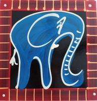 Coasters - Set of 6 - Elephant Blues