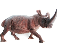 Rhino Ironwood Carving from Zimbabwe