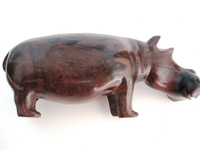 Hippo Ironwood Carving from Zimbabwe #003