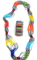 Multi-color Necklace from Kenya with FREE bracelet #009