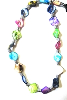 Iridescent Glass Necklace #006