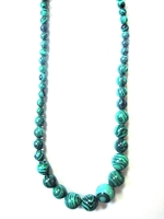 Malachite Necklace from Congo