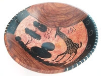 African Rosewood Bowl from Zimbabwe #004