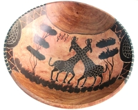 African Rosewood Bowl from Zimbabwe #002