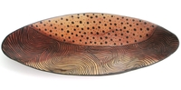 Wild Olive Oval Bowl from Zimbabwe #034