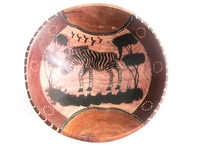 Wild Olive Round Bowl from Zimbabwe #035