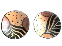 Wild Olive Round Bowls from Zimbabwe #036 - Set of 2