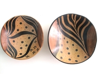 Wild Olive Round Bowls from Zimbabwe #038 - Set of 2