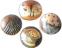 Wild Olive Round Bowls from Zimbabwe #040 - Set of 4
