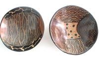 Wild Olive Round Bowls from Zimbabwe #037 - Set of 2