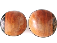Wild Olive Round Bowls from Zimbabwe #039 - Set of 2