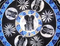 Batik Round Tablecloth from Zimbabwe #005