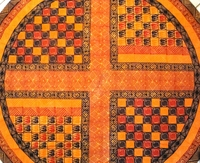 Batik Round Tablecloth from Zimbabwe #004