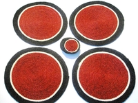 Lutindzi Grass Handwoven Placemat/Coaster Set of 4 - Red Target