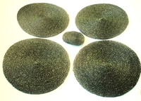 Lutindzi Grass Handwoven Placemat/Coaster Set of 4 -  Forest