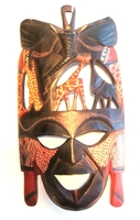 Multi Animal Maasai Mask from Kenya