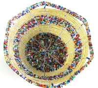 Handwoven Kenyan Beaded Bowl #015