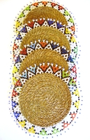 Ndebele Grass & Bead Placemat - Multicolor - Medium - Set of 4