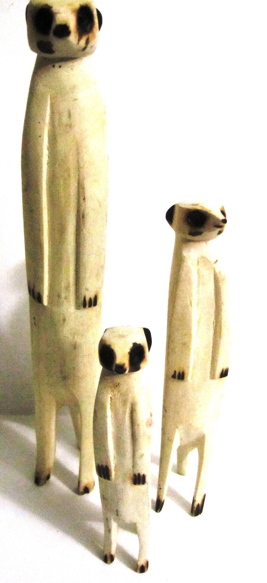 Handcrafted Meerkat Carving from Zimbabwe - Family