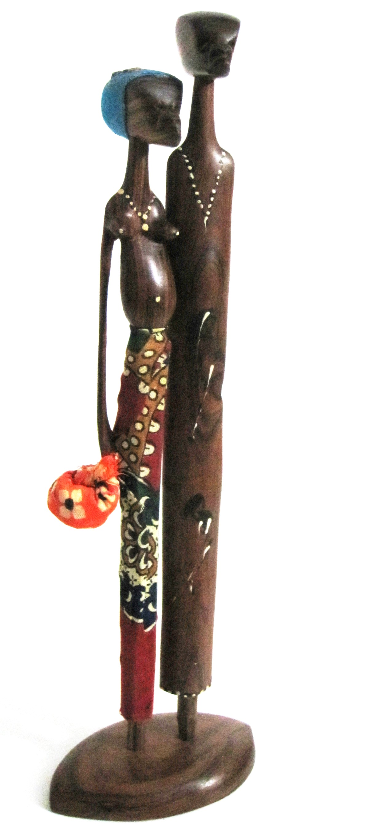 Village Friends Sandalwood Art #004