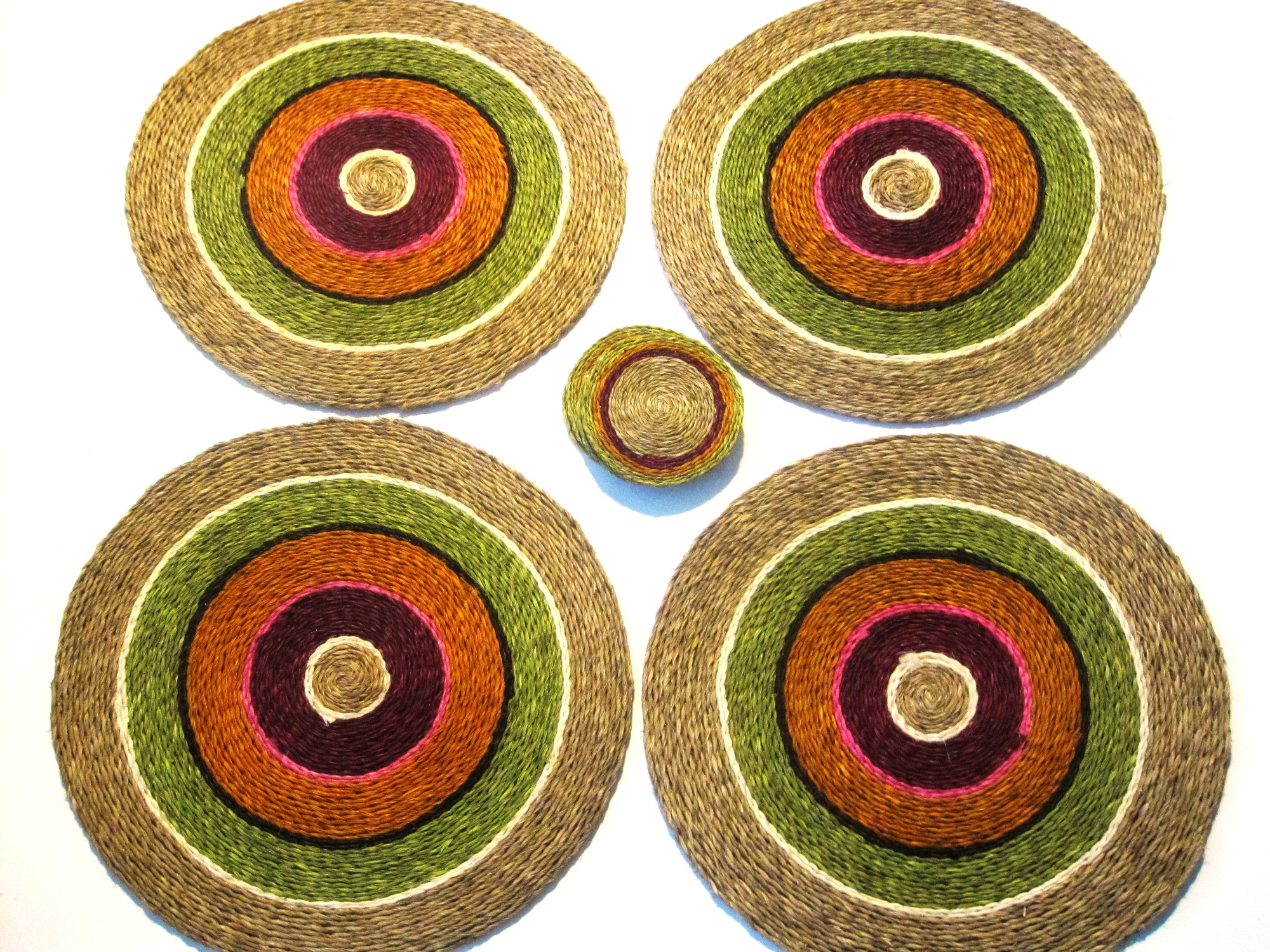 Handwoven Placemat/Coaster Sets