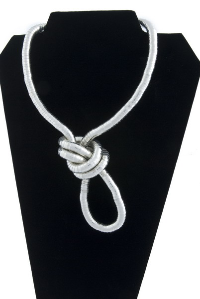 Snake Chain Necklace- Rhodium