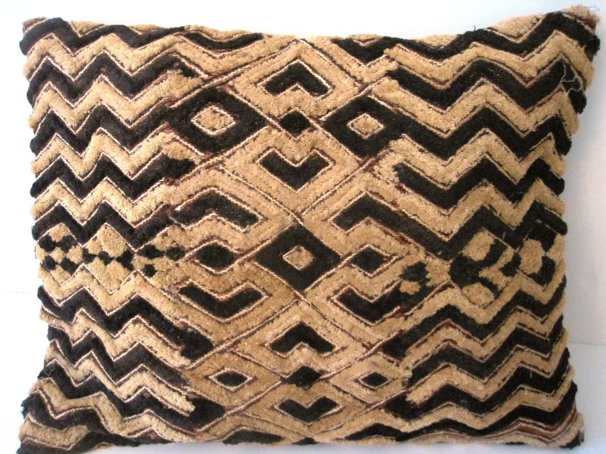 African Kuba Shoowa Cloth Pillow Cover #002