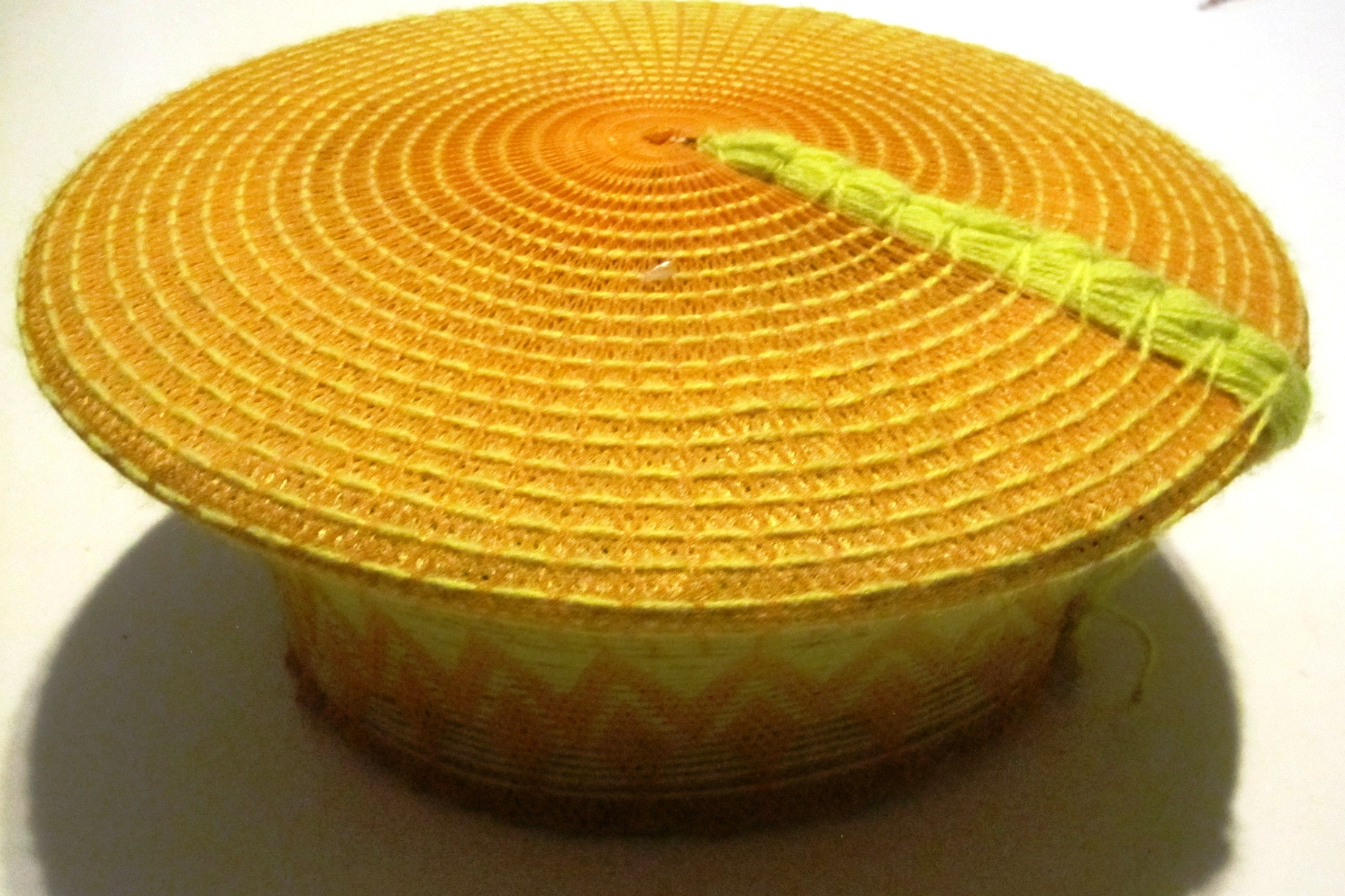 Traditional Zulu Hat - Yellow